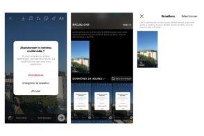 Instagram : comment sauvegarder une story en brouillon