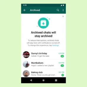 Archive WhatsApp : vos conversations masquées avec les notifications désactivées