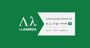 Excel Lambda : comment créer vos propres fonctions Excel