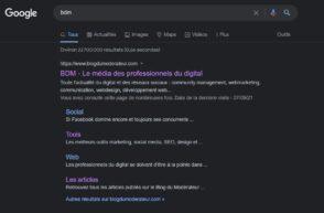 Google Search : comment activer le dark mode sur desktop