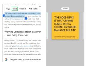 Google Chrome : 3 nouveautés pour faciliter votre recherche et vos partages de texte