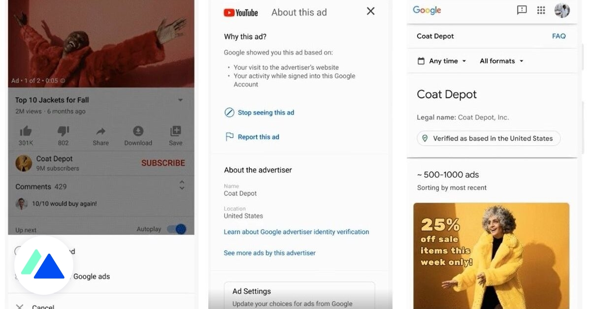 Google va dévoiler l'historique publicitaire des annonceurs - BDM