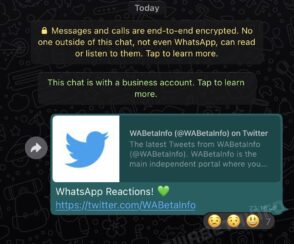 WhatsApp : comment vont fonctionner les réactions aux messages ?