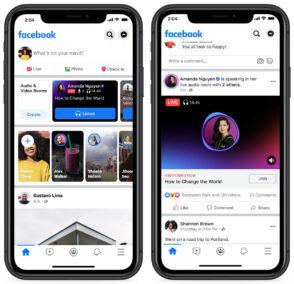 Facebook lance les Live Audio Rooms en France et dans le monde entier